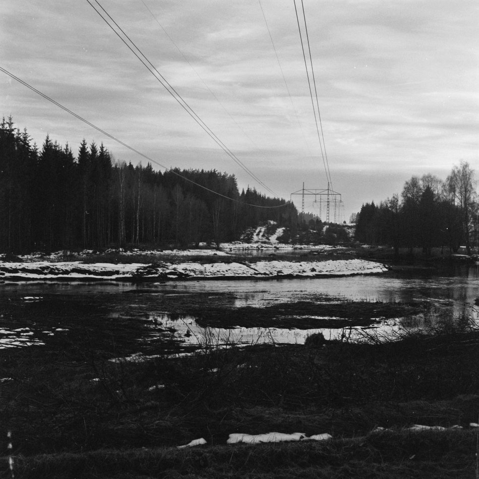 Three photos taken with my Rolleicord. This shows the river Lidan so full of water that it almost became a lake in many places :-)